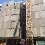 Block 2A 8th Storey plastering works in progress
