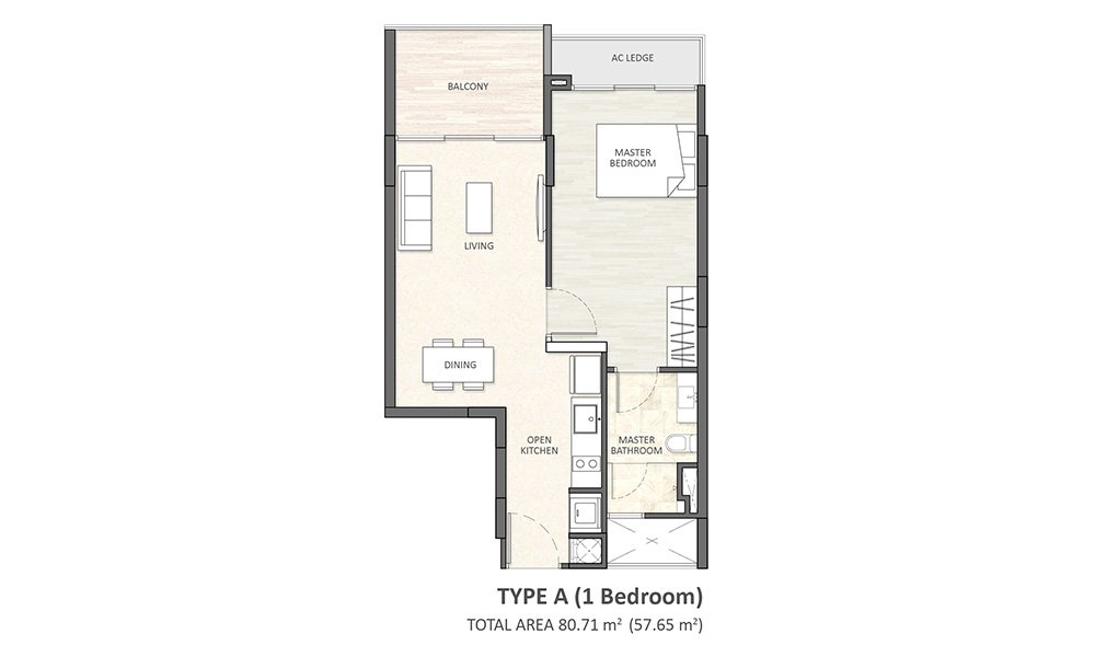 Type A (1BR)