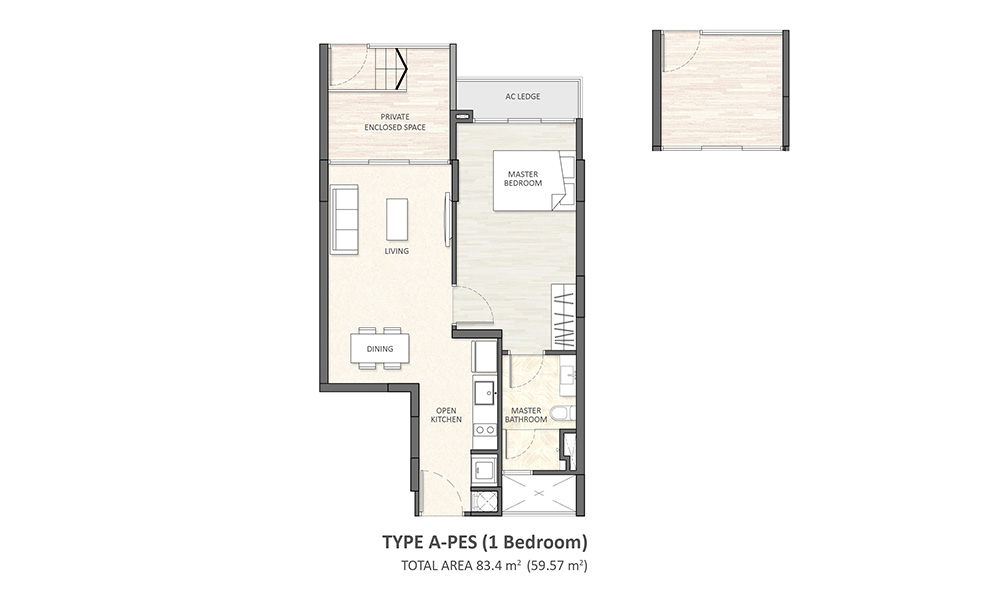 Type A-PES (1BR)