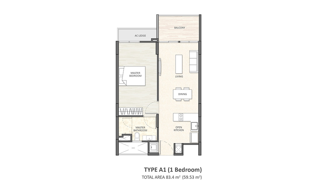 Type A1 (1BR)