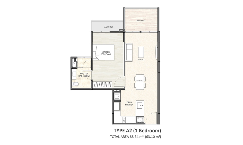 Type A2 (1BR)